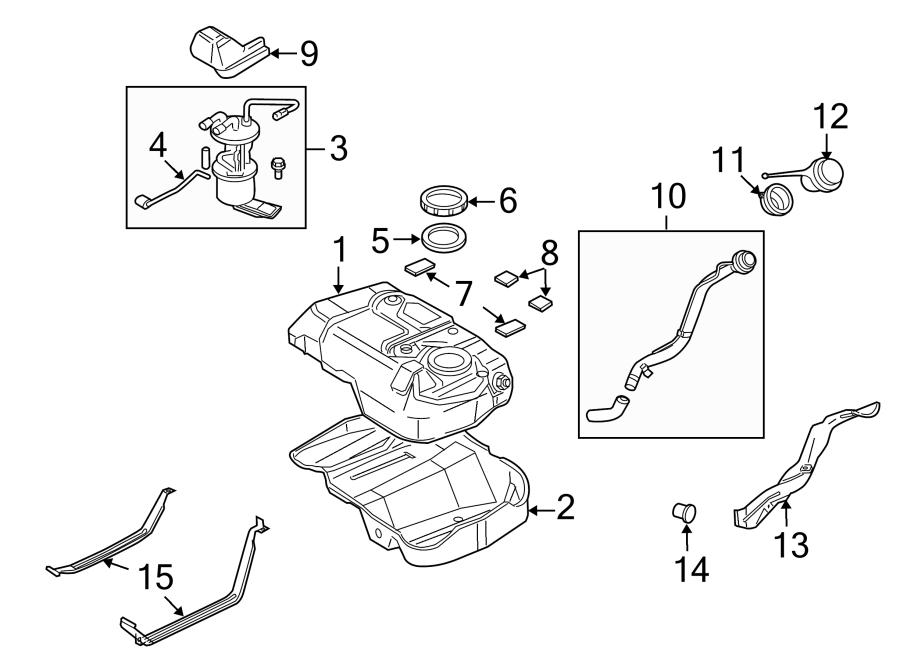 Mazda Tribute Fuel Filler Neck Insulator. SYSTEM