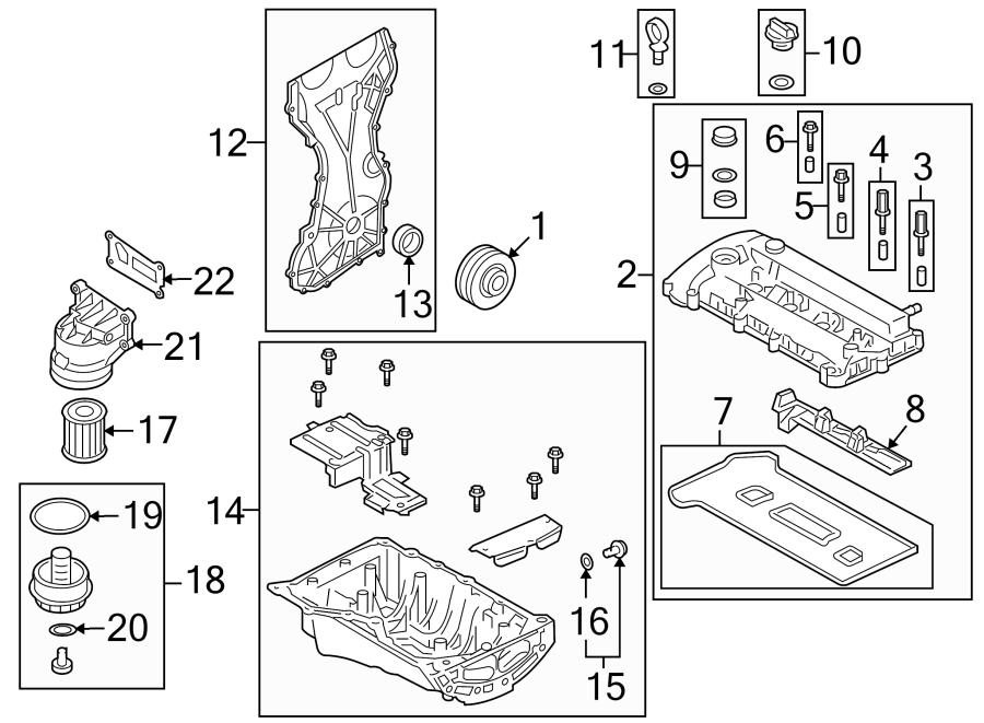 Mazda Tribute Drain. Plug. Oil. Engine. Filter housing