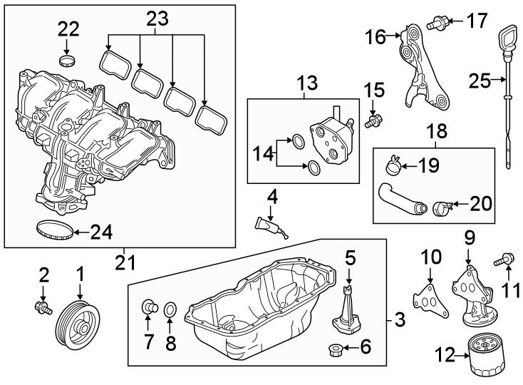 Mazda CX-9 Engine Intake Manifold. 2.5 LITER TURBO. CX-5