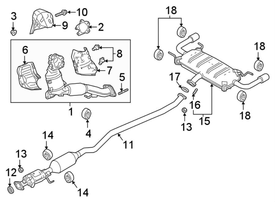 Mazda CX-9 Muffler. Converter. CX-9; Center; AWD. W/AWD