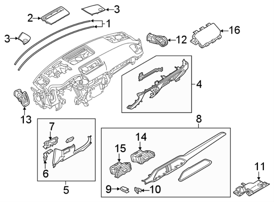 Mazda CX-9 Panel. Trim. LOWER. Instrument. Lower cover. W
