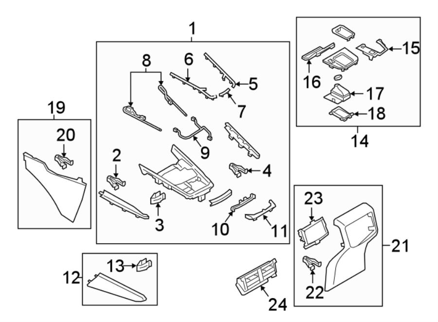 2008 Mazda CX-9 Console Wiring Harness. UPPER TRIM