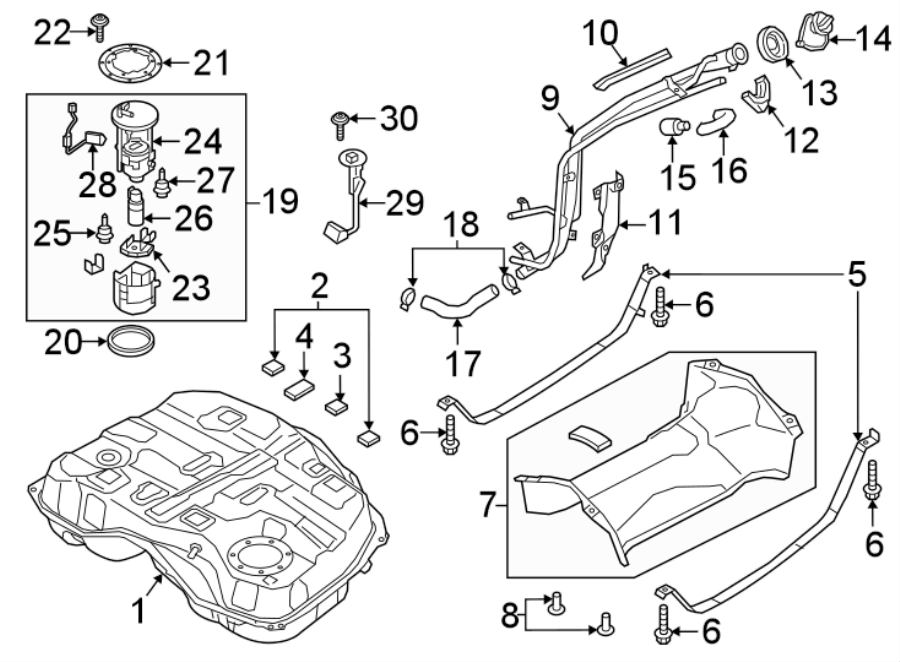 Mazda CX-9 Fuel. Filter. Pump Hanger. BODY,. Location-Tank