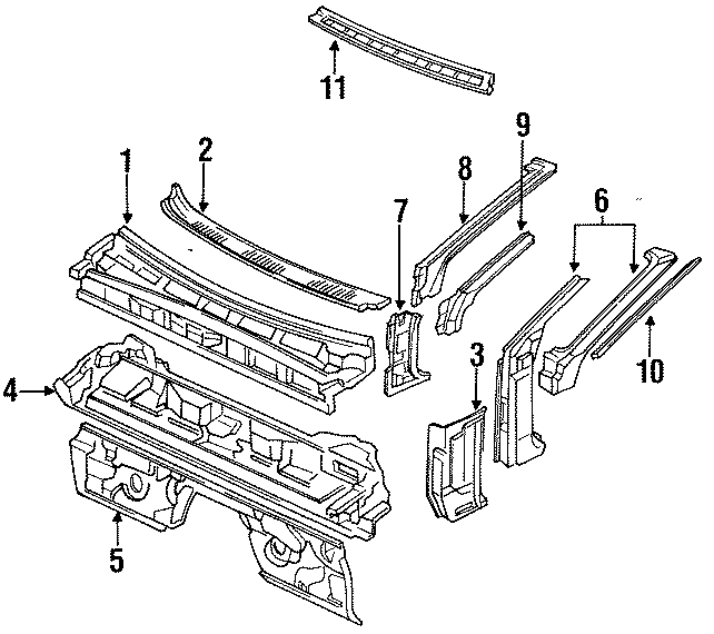 Mazda RX-7 Drip rail. RAIL. (Right). Convertible. COWL