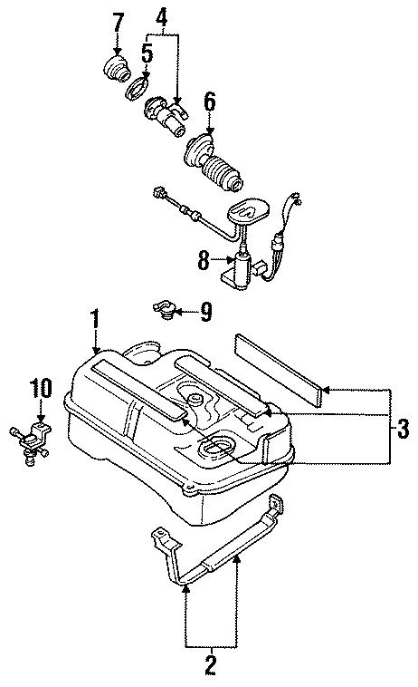Mazda RX-7 Fuel tank vent valve. Fuel valve. Vapor valve