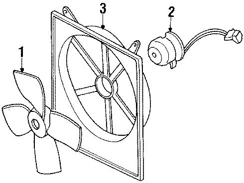 Mazda 626 Engine Cooling Fan Blade. Engine Cooling Fan