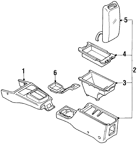 Mazda 626 Console Tray. Tray used with the floor console
