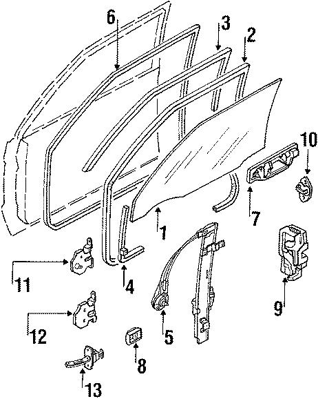Mazda B2600 Hinge, Door. (Right, Upper). 2 DOOR, upper. 4