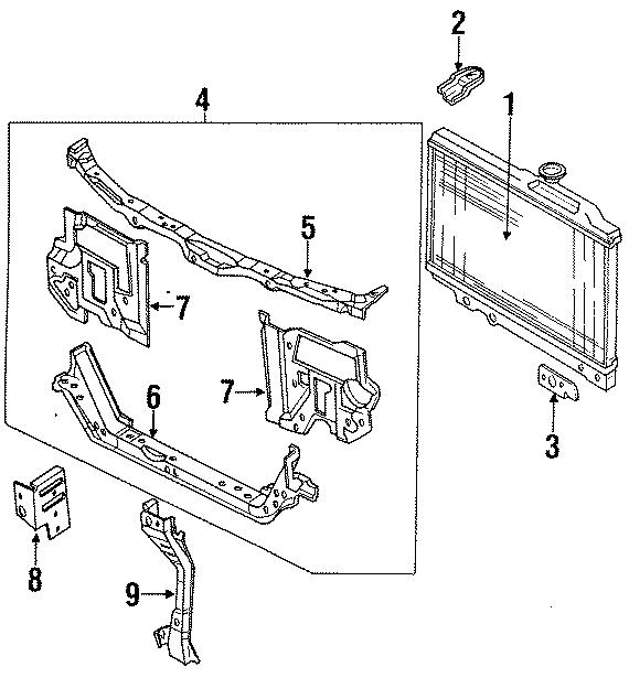 Mazda 323 Bracket, ra. Radiator assembly upper bracket