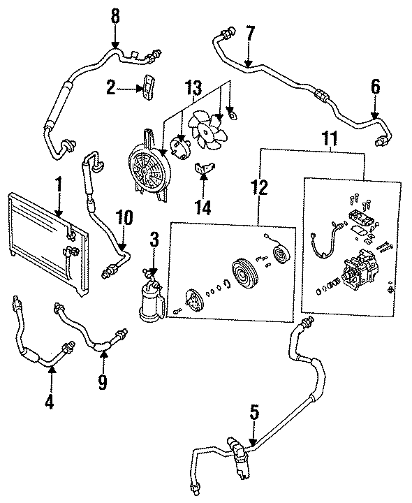 Mazda 323 A/c compressor. Repair, air, conditioner