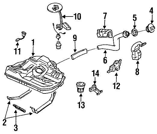Mazda 323 Vapor Canister. 323, Protege. Federal. MX-3