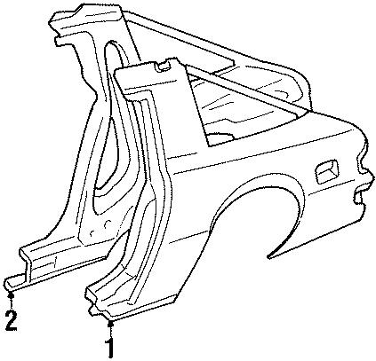Mazda RX-7 Inner panel. PANEL RIGHT (RT),. QUARTER