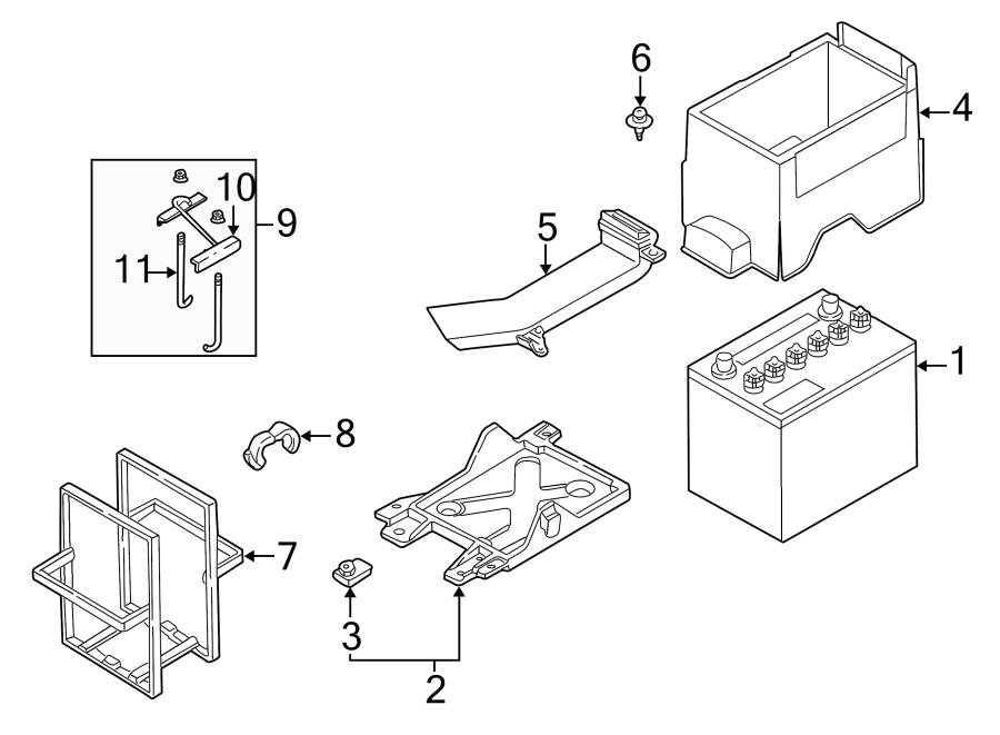 Mazda Millenia Band Clip. Telematics, Lighting, Electrical