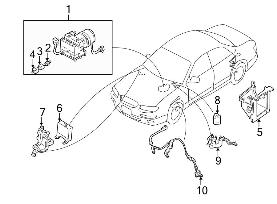 Mazda Millenia Abs control module. Light, repair, warning