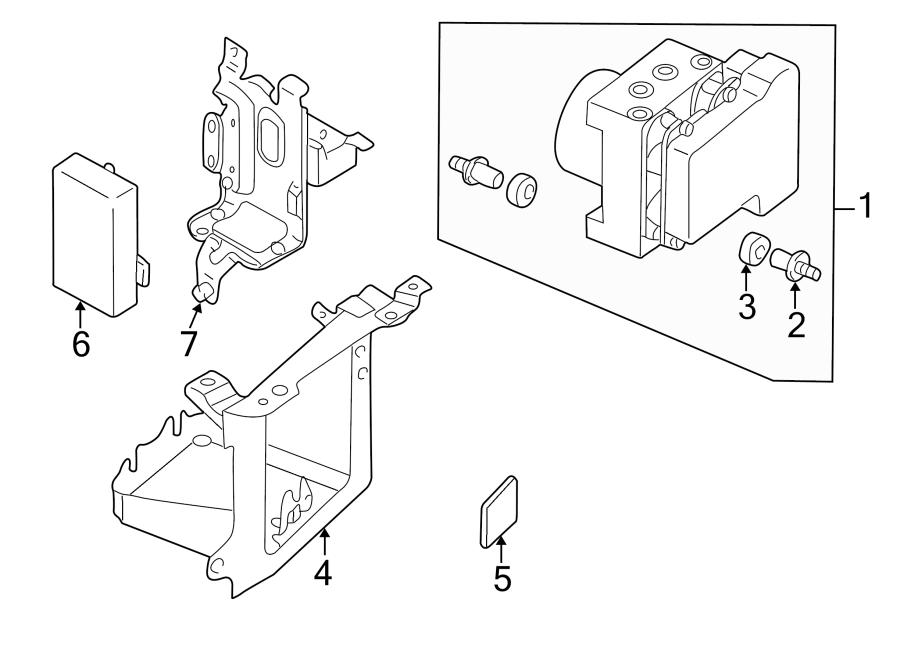 Mazda Millenia Abs hydraulic pump bracket. 2000-02