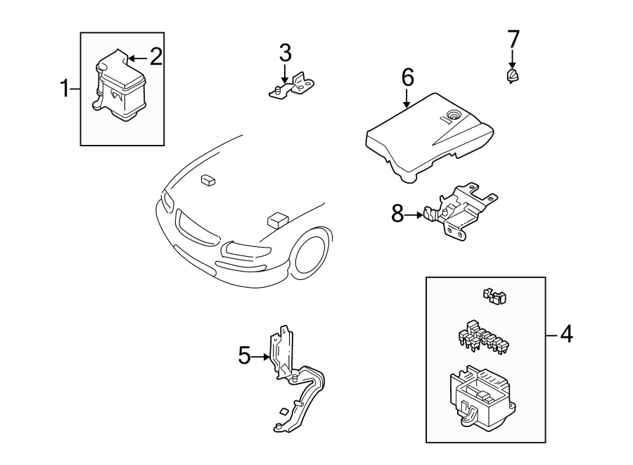 Mazda Millenia Cover clip. FUSE BOX & COMPONENTS