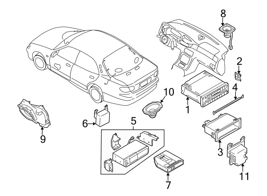 Mazda Millenia Speaker. Front door, 5 speaker system