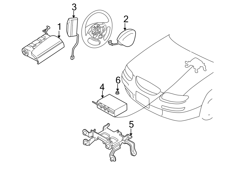Mazda Millenia Steering Wheel Air Bag. Inflator, Module