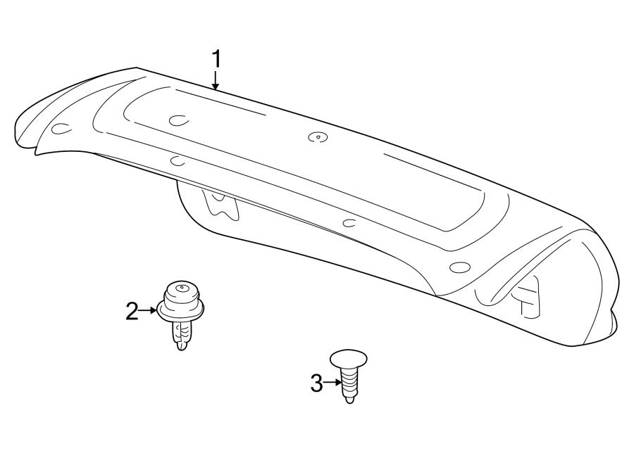 Mazda Millenia Deck Lid Trim Clip. Trunk, INTERIOR, Body