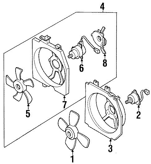Mazda Protege Fan ASSEMBLY. Fan blade. FAN MOTOR. 1.5