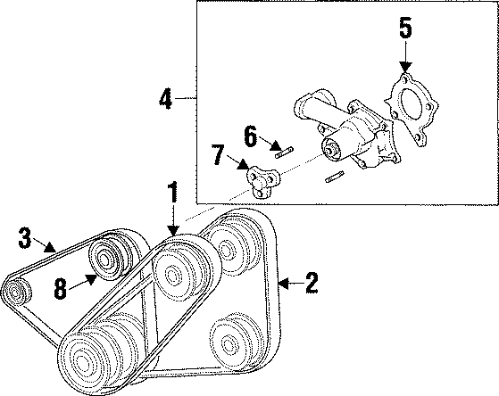 Mazda Protege Engine Water Pump Dowel Pin. 1.5 LITER. 1.6