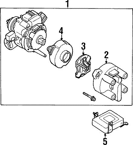 Mazda MX-3 Distributor Cap. 4 cylinder. MX-3; 1.6L