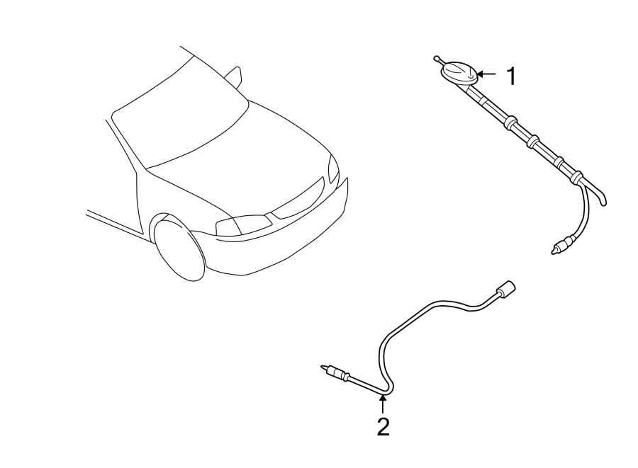 Mazda Protege5 Antenna Cable. Protege; #1. SEDAN