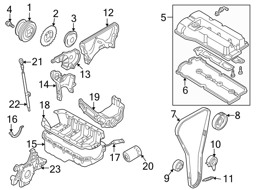 Mazda Protege Stiffener. 1.6 liter. Engine, transaxle