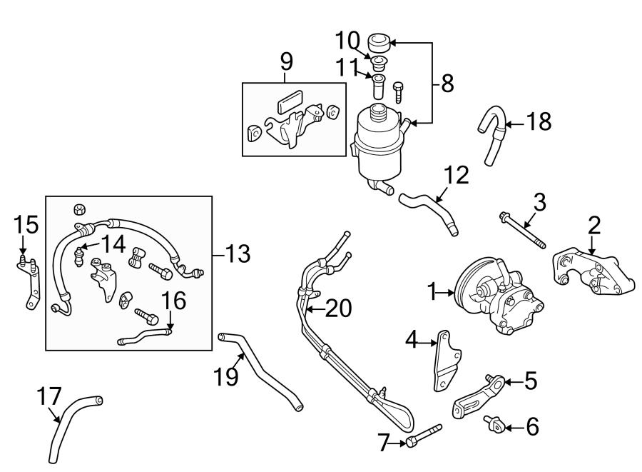 Mazda Protege Power Steering Pump Bracket. 1.6 LITER. 4
