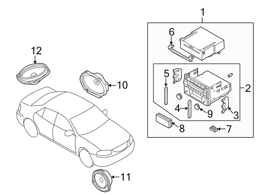 Mazda Protege Speaker. 2002-03, hatchback. 2002-03, roof
