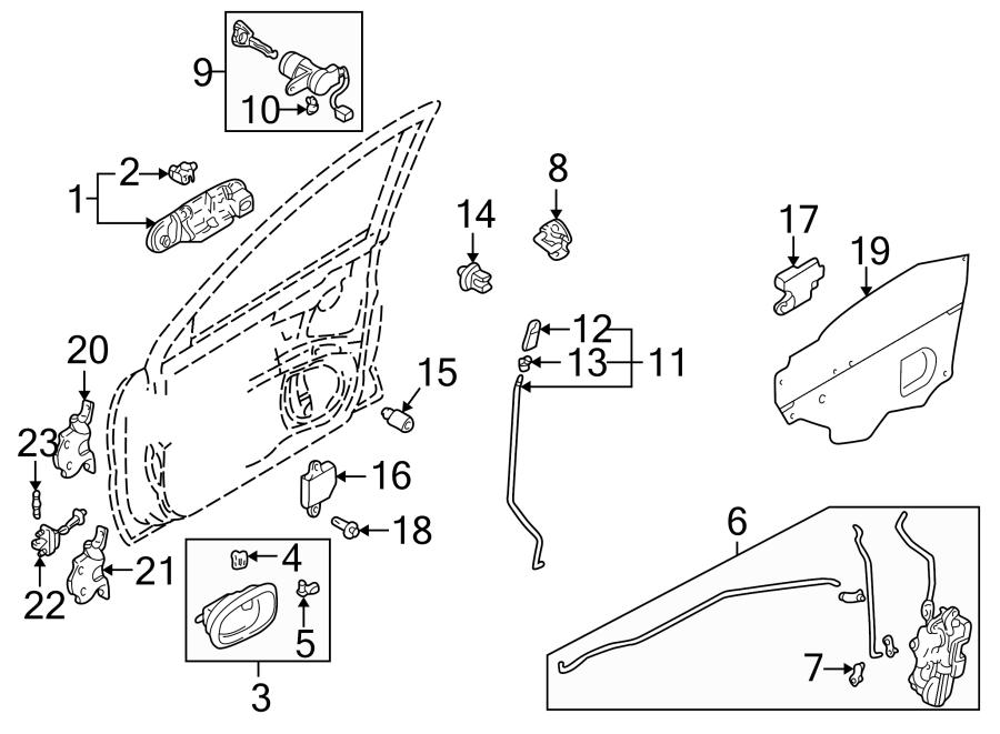 Mazda Protege Door Lock Rod Clip (Right). Type 1