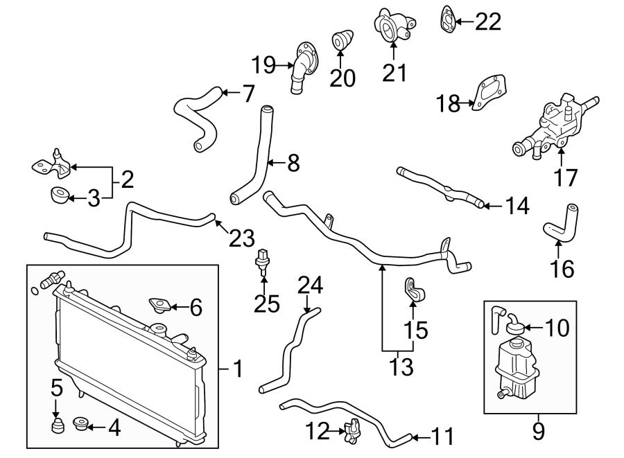 Mazda Protege5 Hose. Radiator. Coolant. Lower water. 1.8