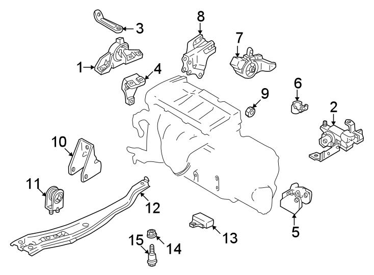 Mazda Protege Engine Mount Isolator. 1.6 LITER, MANUAL