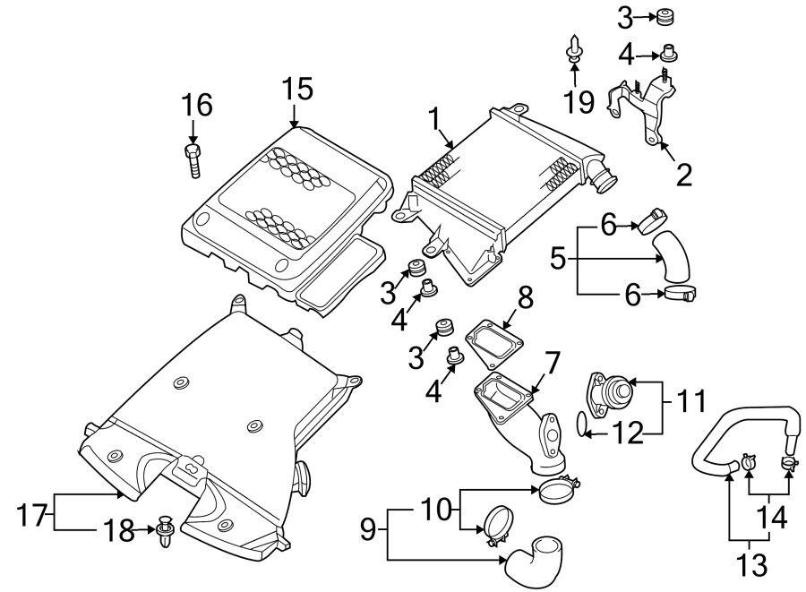 Mazda 3 Engine Air Intake Hose Bolt. 2.3 LITER. W