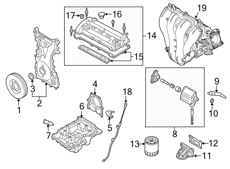 Mazda 3 Engine Timing Cover. 2.0 LITER W/O SKYACTIV. 2.0L