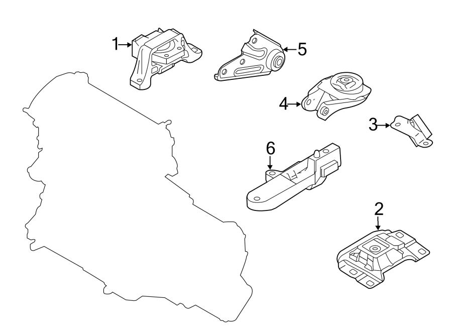 Mazda 3 Engine Mount Bracket. Trans, Auto, LITER