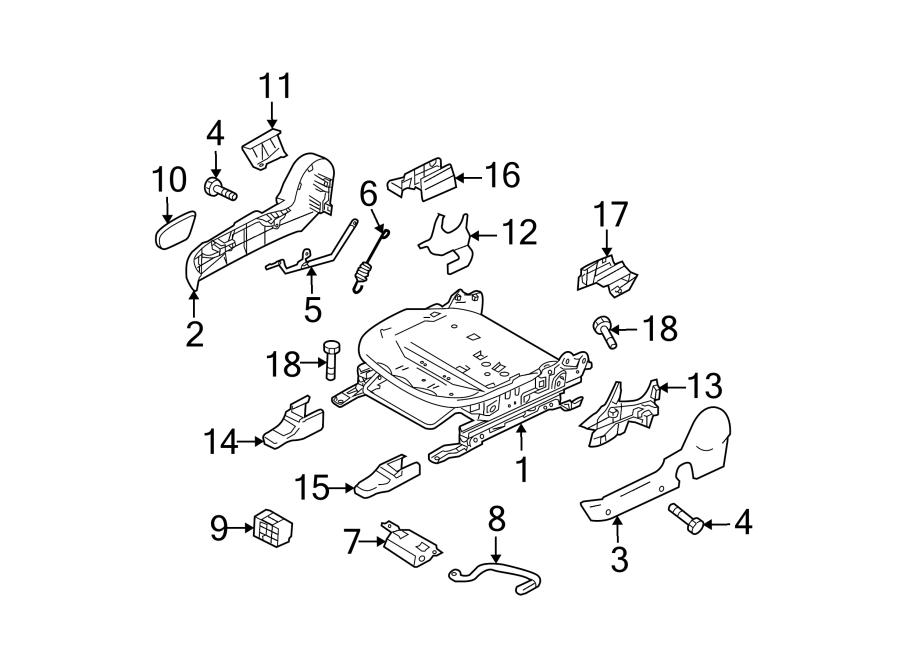 Mazda 3 Seat Back Recliner Adjustment Mechanism Cover