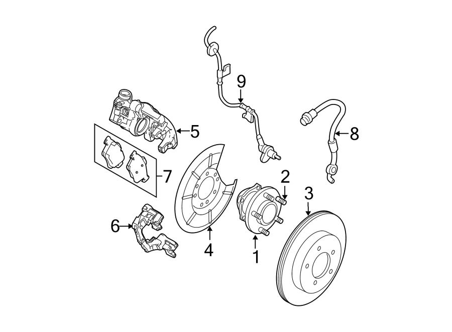 Mazda 3 Abs wheel speed sensor wiring harness. 2.0l. 2.5l