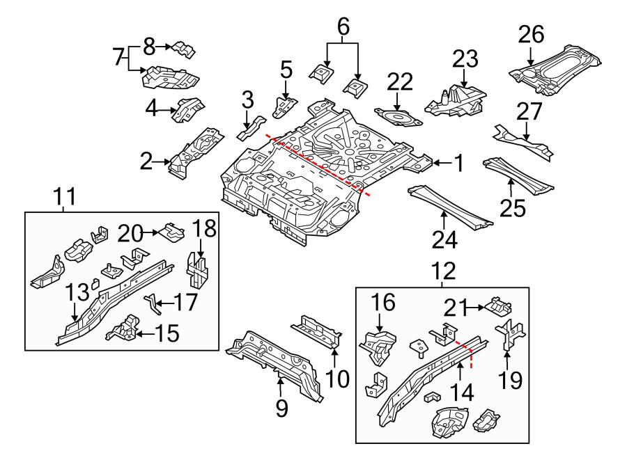 Mazda 3 Frame Stiffener. HATCHBACK. SEDAN. Right, Rear