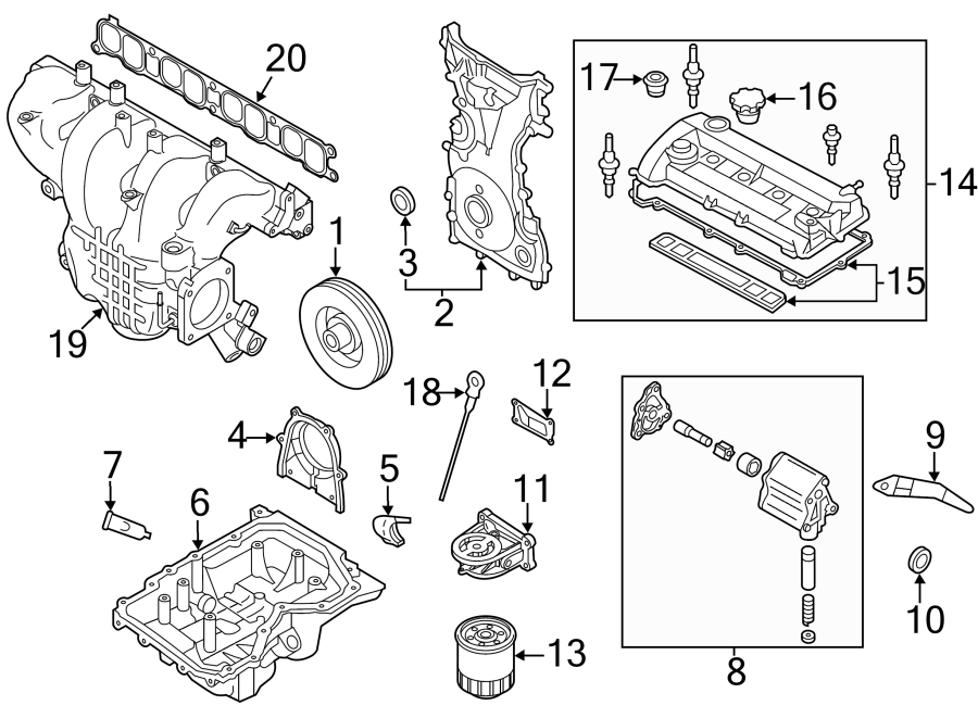 Mazda 3 Engine Timing Cover. 2.3 LITER. 2.3L W/TURBO. CX-7