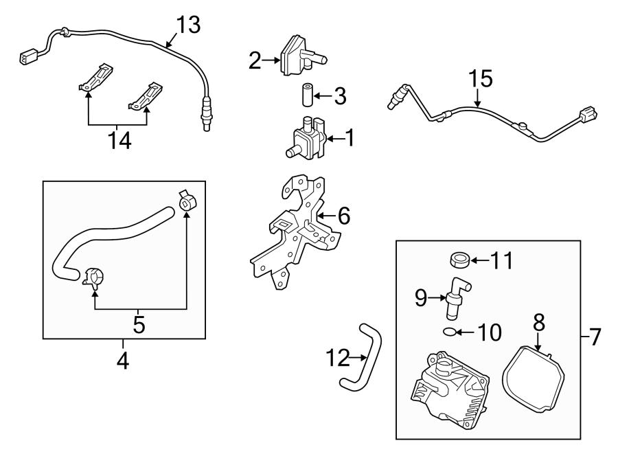 Mazda 3 Oxygen Sensor. EMISSION, COMPONENTS, Make