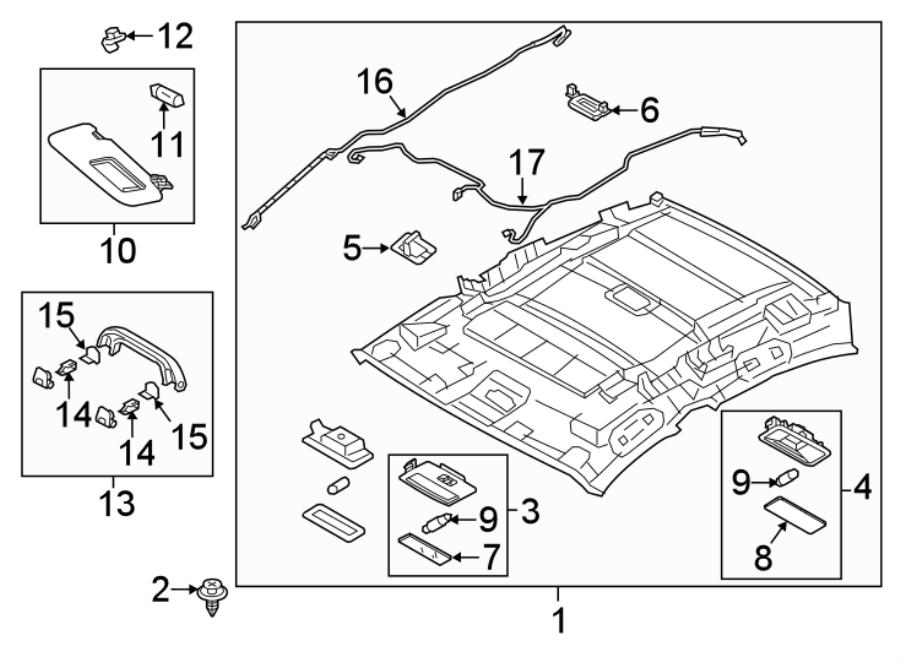 Mazda 3 Headliner Wiring Harness. HATCHBACK, W/O SUNROOF