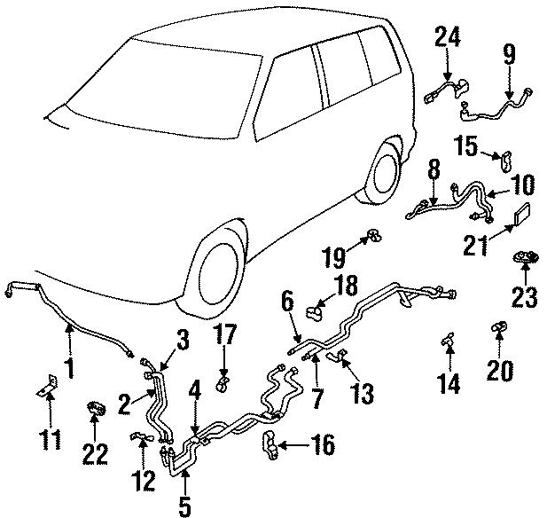 Mazda MPV Ac line. Pipe, rear (rr) cooler. #3. Lines, hvac