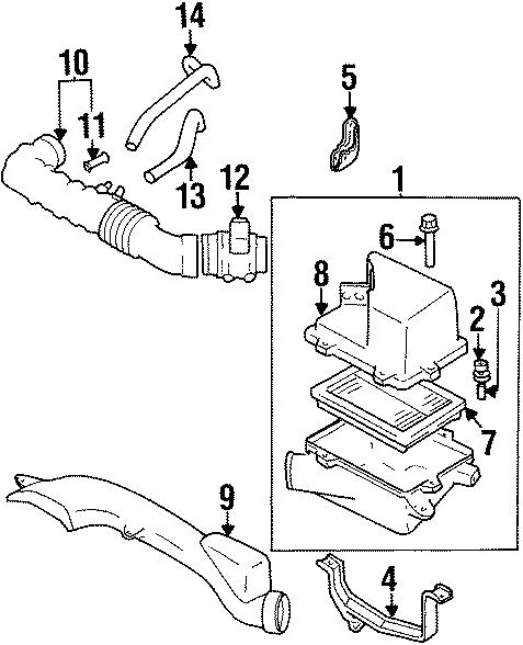 Mazda MPV Mass Air Flow Sensor. ENGINE, INTAKE, TRANSAXLE