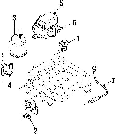 Mazda MPV Fuel Injection Idle Air Control Valve. Emission