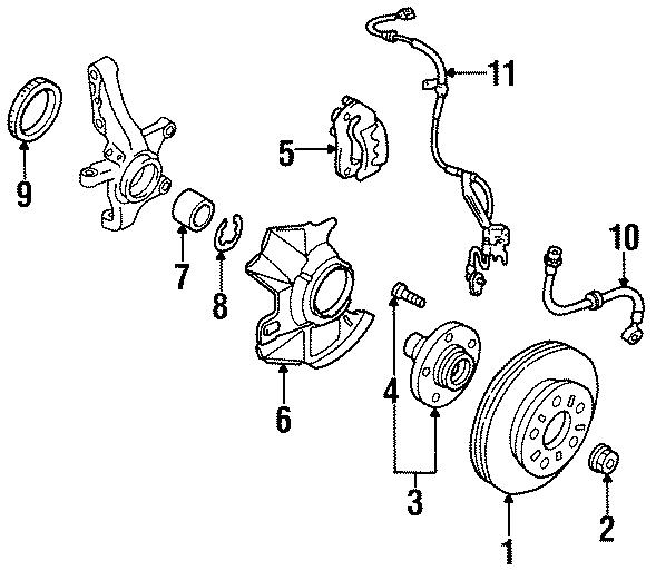 Mazda MPV Wheel Bearing. Suspension, BRAKE, COMPONENTS