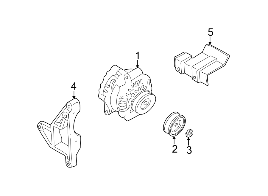 Mazda MPV Alternator Brace. Telematics, Protector