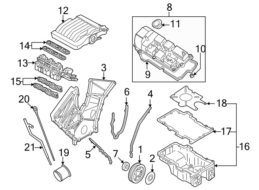 Mazda MPV Gasket. Manifold. Plenum. Intake. Engine. Fuel