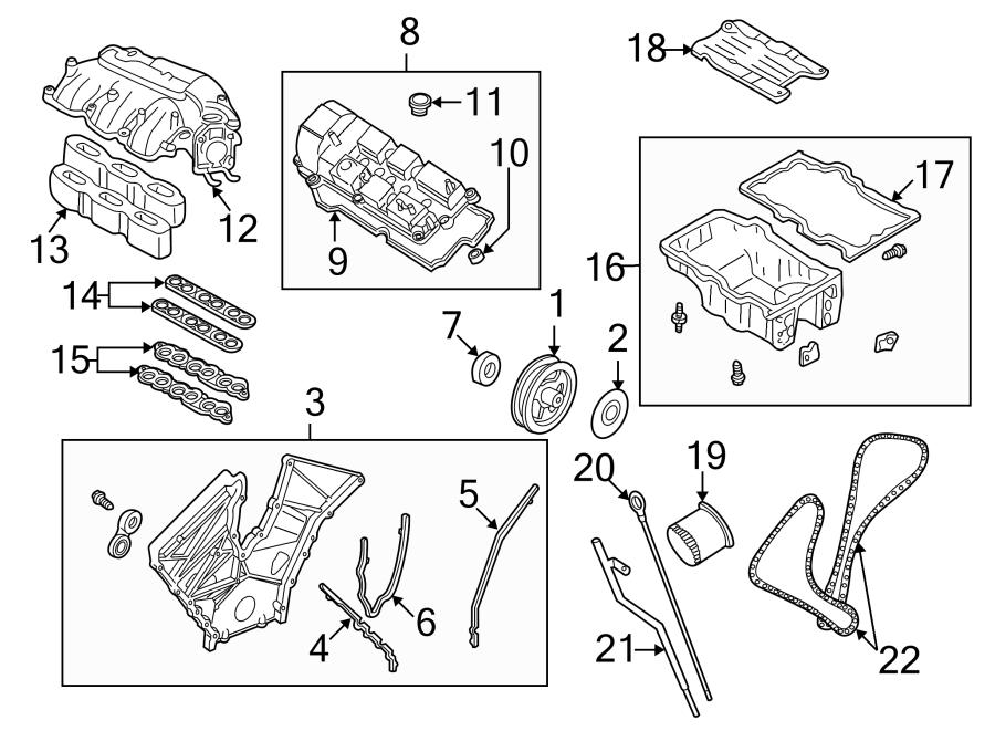 Mazda MPV Engine Intake Manifold Gasket. 3.0 LITER, lower