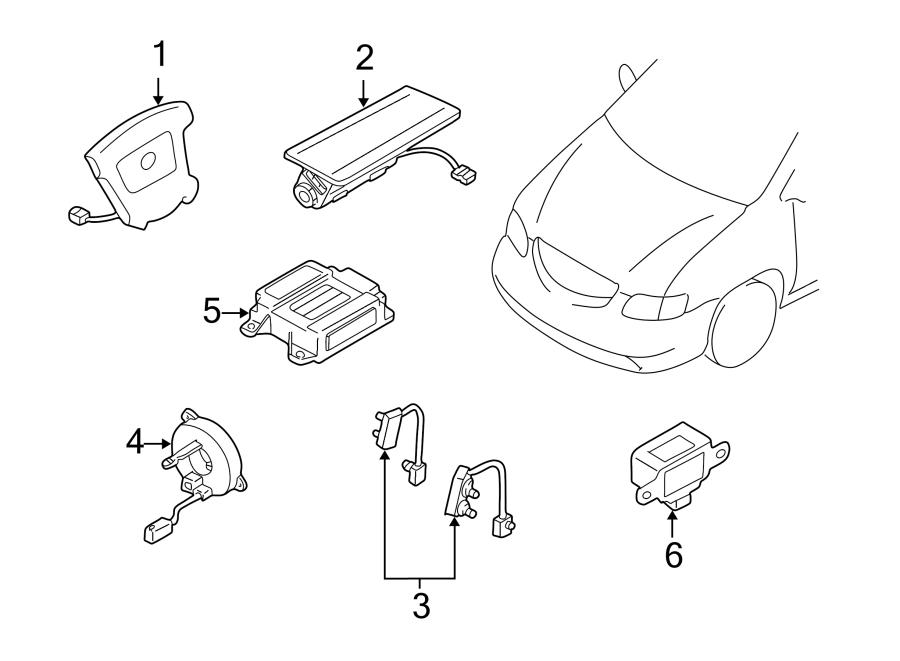 Mazda MPV Instrument Panel Air Bag. Inflator, Module